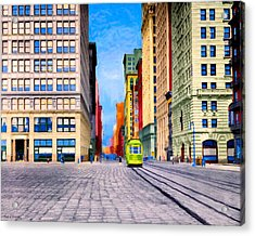 Vintage View Of New York City - Union Square Acrylic Print by Mark E Tisdale