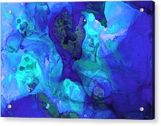 Violet Blue - Abstract Art By Sharon Cummings Acrylic Print by Sharon Cummings
