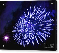 Violet Display Acrylic Print by Katherine Forrester