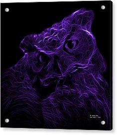 Violet Owl 4229 - F M Acrylic Print by James Ahn
