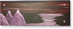 Violet Sea Acrylic Print by Scott Wilmot