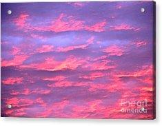 Violet Sunrise Acrylic Print by Jay Nodianos