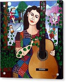 Violeta Parra Back At Seventeen   Acrylic Print by Madalena Lobao-Tello
