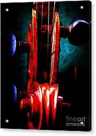 Violin 2 - V2 Acrylic Print by Wingsdomain Art and Photography