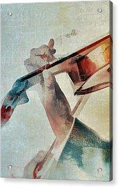 Violinist Acrylic Print by David Ridley