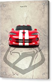 Viper Gts Acrylic Print by Mark Rogan