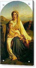 Virgin And Child Acrylic Print by Paul  Delaroche