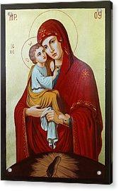 Virgin Of Pachev Acrylic Print by Janeta Todorova