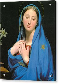 Virgin Of The Adoption Acrylic Print by Jean Auguste Dominique Ingress