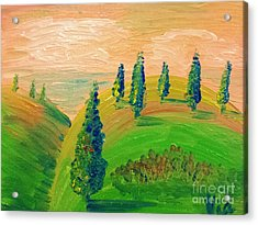 Virginia  Acrylic Print by Judy Via-Wolff