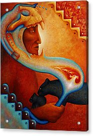 Visions Of A New Earth Acrylic Print by Kevin Chasing Wolf Hutchins
