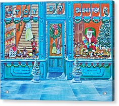 Visit To The Toy Shop Santa Acrylic Print by Gordon Wendling