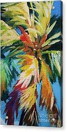 Vivid Palm Acrylic Print by John Clark