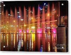 Vivid Sydney By Kaye Menner -  Vivid Aquatique  Acrylic Print by Kaye Menner