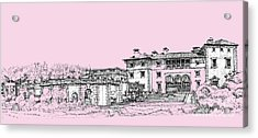 Vizcaya Museum And Gardens Baby Pink Acrylic Print by Building  Art