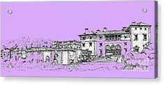 Vizcaya Museum And Gardens In Lilac Acrylic Print by Building  Art