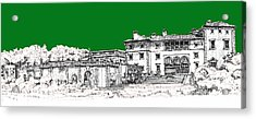 Vizcaya Museum And Gardens In Pine Green Acrylic Print by Building  Art