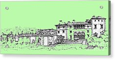 Vizcaya Museum And Gardens In Pistachio Green Acrylic Print by Building  Art