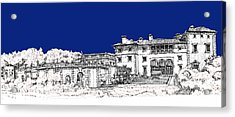 Vizcaya Museum And Gardens In Royal Blue Acrylic Print by Building  Art