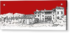 Vizcaya Museum And Gardens Scarlet Acrylic Print by Building  Art
