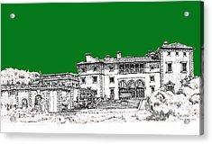 Vizcaya Museum In Green Acrylic Print by Building  Art