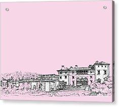 Vizcaya Museum In Pink Acrylic Print by Building  Art