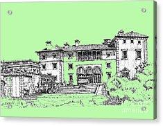 Vizcaya Museum In Pistachio Acrylic Print by Building  Art