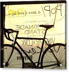 Volker Bicycles Acrylic Print by Elizabeth Sullivan