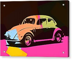 Volkswagen Beetle Pop Art 2 Acrylic Print by Dan Sproul
