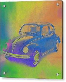 Volkswagen Beetle Pop Art Acrylic Print by Dan Sproul