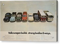 Volkswagen Body Facts Acrylic Print by Georgia Fowler