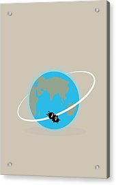 Vostok 6 In Orbit Acrylic Print by Ramon Andrade 3dciencia