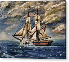 Voyage Of The Cloud Chaser Acrylic Print by Isabella Abbie Shores