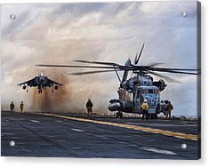 Vtol Parking Only Acrylic Print by Peter Chilelli