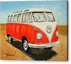 Vw Transporter T1 Acrylic Print by Luke Karcz