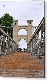 Waco Suspension Bridge Acrylic Print by Christine Till