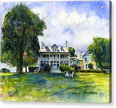 Wades Point Inn Acrylic Print by John D Benson