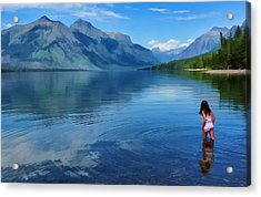 Wading In To A Dream Acrylic Print by Jeff R Clow