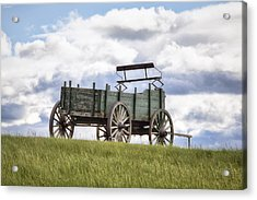 Wagon On A Hill Acrylic Print by Eric Gendron