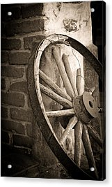 Wagon Wheel Acrylic Print by Peter Tellone