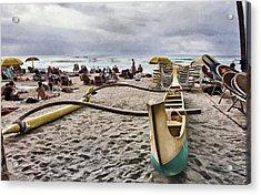 Waikiki Beach Hawaii Acrylic Print by Douglas Barnard