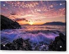 Wailea Glow Acrylic Print by Hawaii  Fine Art Photography