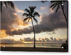 Waimea Beach Sunset - Oahu Hawaii Acrylic Print by Brian Harig
