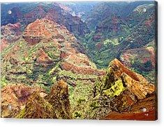 Waimea Canyon Acrylic Print by Scott Pellegrin
