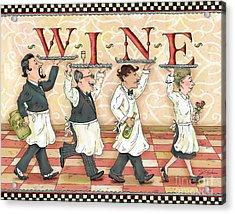 Waiters Wine Acrylic Print by Shari Warren