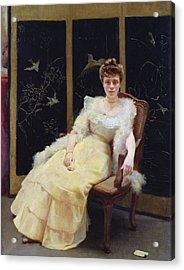 Waiting, 1901 Oil On Canvas Acrylic Print by Ernst Philippe Zacharie