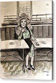 Waiting Acrylic Print by Caroline Street