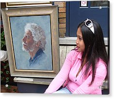 Waiting For A Portrait Session Acrylic Print by Lingfai Leung
