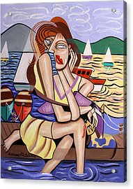Waiting For My Ship To Come In Acrylic Print by Anthony Falbo