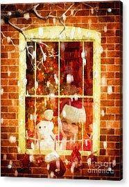 Waiting For Santa Acrylic Print by Mo T